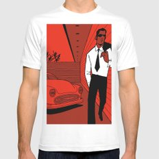 Walking Man SMALL Mens Fitted Tee White