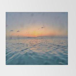 Sunset Ocean Throw Blanket