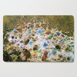 Rainbow Bubbles  Sea Foam Cutting Board