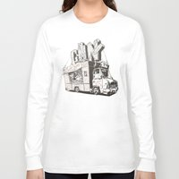 truck Long Sleeve T-shirts featuring Shopping Truck by Mitt Roshin