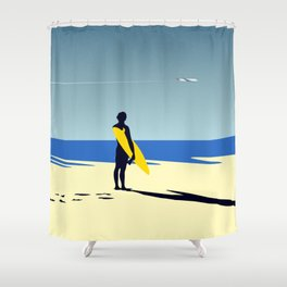 The surfer and the sea Shower Curtain