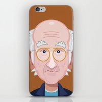 larry david iPhone & iPod Skins featuring Comics of Comedy: Larry David by XK9 Works