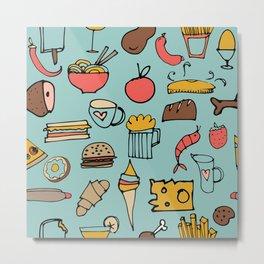 Food Frenzy blue #homedecor Metal Print