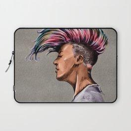 RGD Punk Rock Girl Portrait | Nikki the Bee Laptop Sleeve