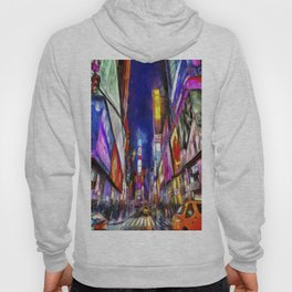 Times Square New York Art Hoody