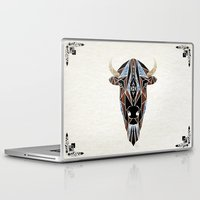 bison Laptop & iPad Skins featuring bison by Manoou