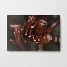 Hands symbol Metal Print