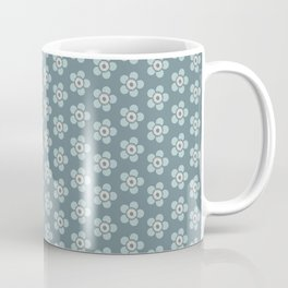 Flower Power surface pattern (blue) Coffee Mug