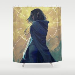 Aim for his heart Shower Curtain