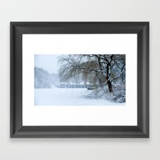 Snow in Central Park III Framed Art Print