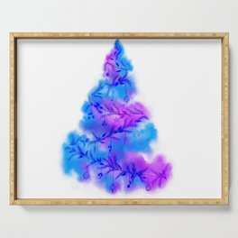Music Watercolor Christmas Tree Serving Tray