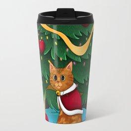 Guilty Christmas Kitty Travel Mug