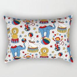 Little Circus Stars on White Rectangular Pillow