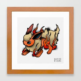 Flareon Tattoo Flash Framed Art Print