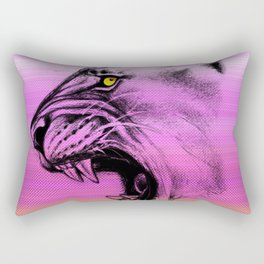 Lioness Color Pink Purple Rectangular Pillow