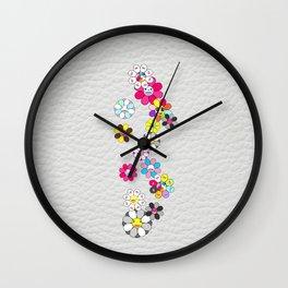 White and social flowers by ilya konyukhov (c) Wall Clock