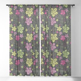 day of the dead couple Sheer Curtain