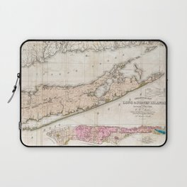 Long and Staten Island Map Laptop Sleeve