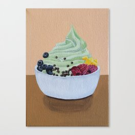 Frozen Yogurt and Toppings Canvas Print