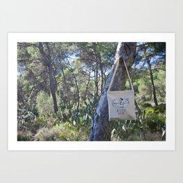 We Support Nature Tote bag Art Print