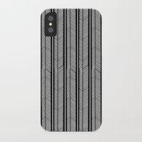 herringbone iPhone & iPod Cases featuring Herringbone Stripe by Project M