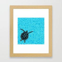 Sea Turtle by Black Dwarf Designs Framed Art Print