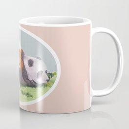 Giant Panda snuggles in the sunshine Coffee Mug