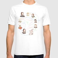 Fellowship Relationship Chart MEDIUM Mens Fitted Tee White