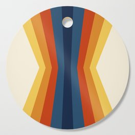 Bright 70's Retro Stripes Reflection Cutting Board