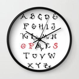 Alphabet OPS Wall Clock