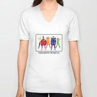 vegetables V-neck T-shirts featuring Human Vegetables by Orbon Alija