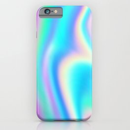 Iridescent Holographic Abstract Colorful Pattern iPhone Case