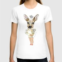 bambi T-shirts featuring Bambi  by Iria do Castelo