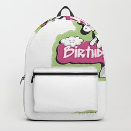 Birthday Girl Unicorn Outfit For Cute Girls graphic Backpack