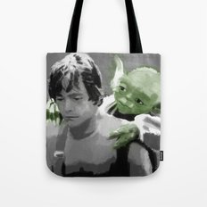 Luke Skywalker & Yoda Tote Bag