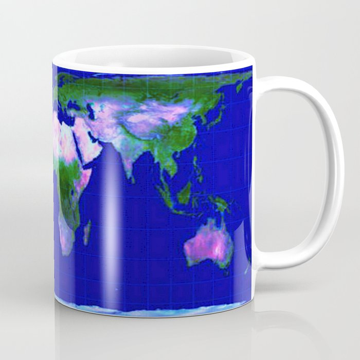 World Map Gall Peters Coffee Mug By Vintageby2sweet Society6