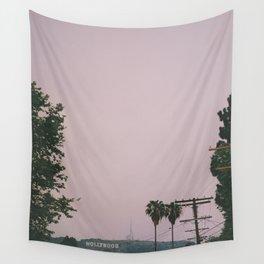 Rainy Hollywood - a rare sight Wall Tapestry
