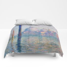 Le Grand Canal by Claude Monet Comforters