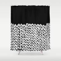 knit Shower Curtains featuring Half Knit by Project M