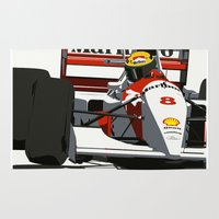 senna Area & Throw Rugs featuring AYRTON SENNA- MONACO GRAND PRIX by MATT WARING