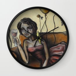 Pity party by Lilly Hibbs Wall Clock
