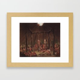 George Catlin - The Cutting Scene Framed Art Print
