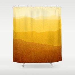 gradient landscape - sunshine edit Shower Curtain