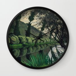 "Félix Vallotton ""La Seine bordée de saules, Tournedos"" Wall Clock"