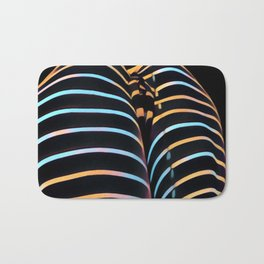 2634s-AK Striped Thighs Bottoms Up Intimate Abstract by Chris Maher Bath Mat