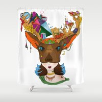 elk Shower Curtains featuring Elk by aileencopyright