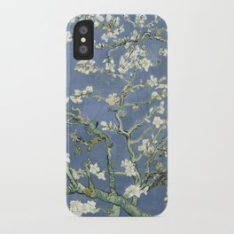 Almond Blossom - Vincent Van Gogh (blue pastel) iPhone Case