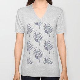 Blue exotic palm Unisex V-Neck