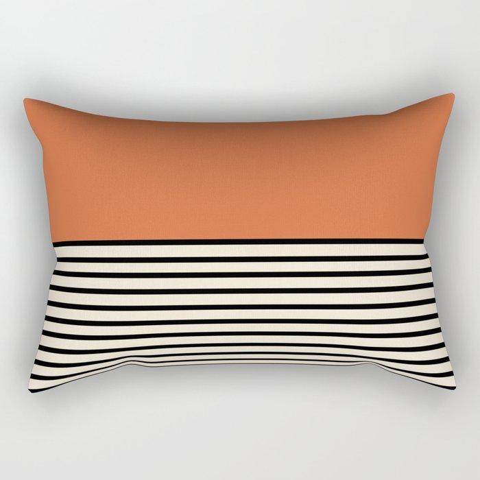 Sunrise / Sunset - Orange & Black Rectangular Pillow