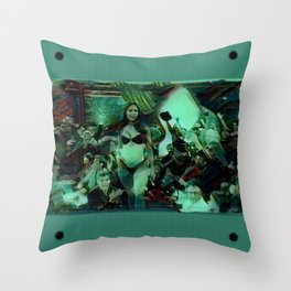 Peep Show Ghouls Throw Pillow